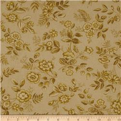 Moda Collections for a Cause Love Tonal Floral Tonal Tan