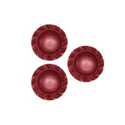 Fashion Button 1/2'' Lois Burgundy