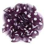Capri Polka Dot 4 1/2&#39;&#39; Broocj Purple/White