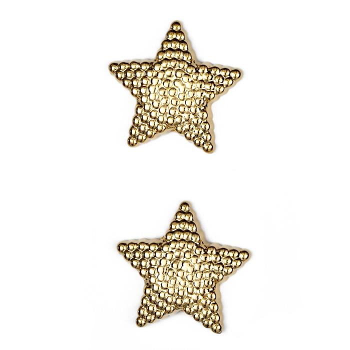 Metalized Button 1&#39;&#39; North Star Gold