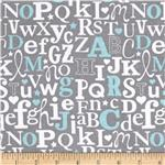 0271492 Alpine Flannel Elephant Alphabet Blue