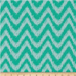 Happy Jungle Zig Zag Chevron Turquoise