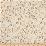 "110"" Wide Quilt Backing Flourish Cream"
