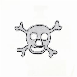 Skull with Felt Applique White