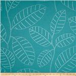0276453 P Kaufmann Indoor/Outdoor Stitch Vine Carolina Blue