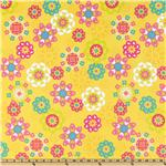 DK-536 Irving Street Flannel Flower Power Yellow