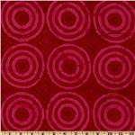 Tonga Batik Bazaar Circles Cherry Red