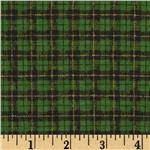Christmas Valley Flannel Plaid Green/Black