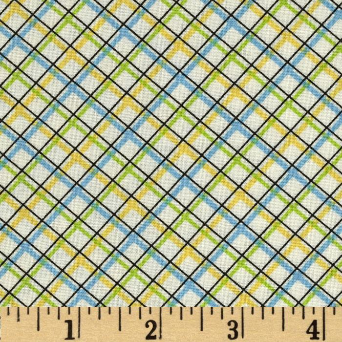 Vintage Vibe Plaid Yellow Blue