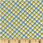 FL-202 Vintage Vibe Plaid Yellow Blue