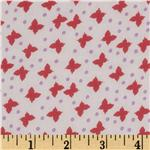 Designer Chiffon Butterflies Pink