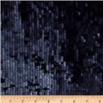 Envy Matte Sequin Netting Indigo