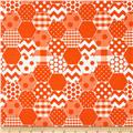 Riley Blake Hexi Print Orange
