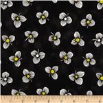 0272187 Sunburst Contempo Tossed Floral Black