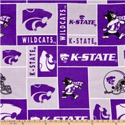 Collegiate Fleece Kansas State University Blocks Royal Purple