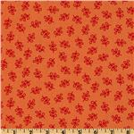FC-339 Michael Miller Nordic Holiday Holly Folly Orange