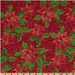 FO-029 Merry Christmas Poinsetta Red