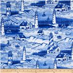 0301825 Beacon Lighthouses Blue/White