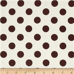 Riley Blake Le Creme Basics Medium Dots Cream/Brown