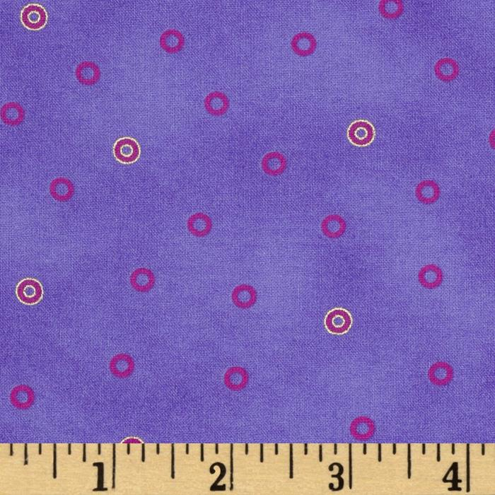 Laurel Burch Basics Circles Purple Metallic