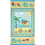 Two By Two Noah's Ark Panel Blue