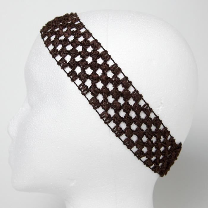 1 3/4'' Stretch Crochet Headband Chocolate