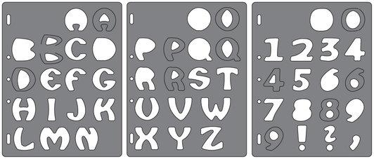 Fiskars Shape Template Uppercase Letter Set # 2