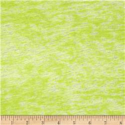 Designer Burnout Knit Abstract Lime