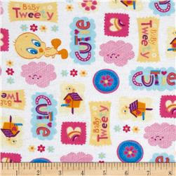 Baby Tweety Flannel Cutie White/Multi