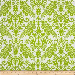 Riley Blake Large Damask White/Lime