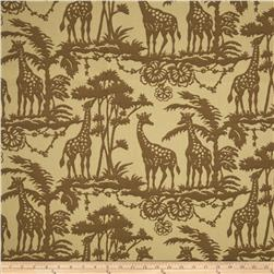 Bella-Dura Eco-Friendly Indoor/Outdoor Acacia Giraffe Jacquard Tan/Brown
