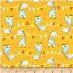 0302602 Adventure Land Flannel Zebra Parade Yellow