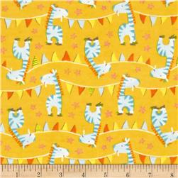 Adventure Land Flannel Zebra Parade Yellow