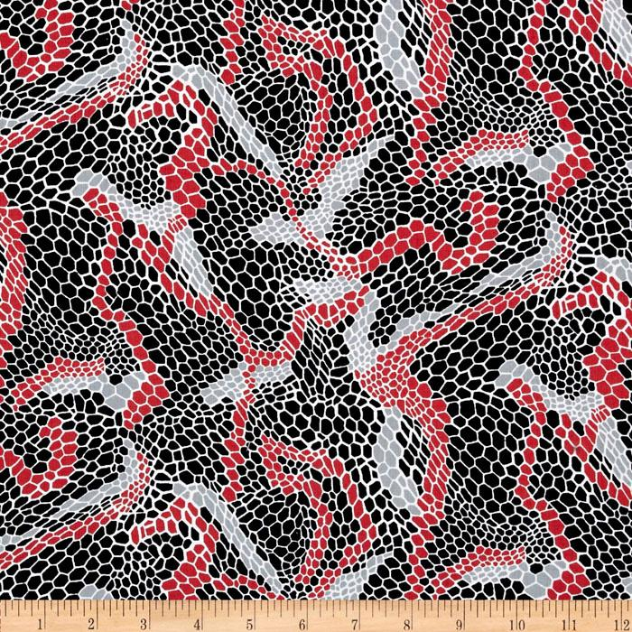 Night and Day 4 Snake Skin Red