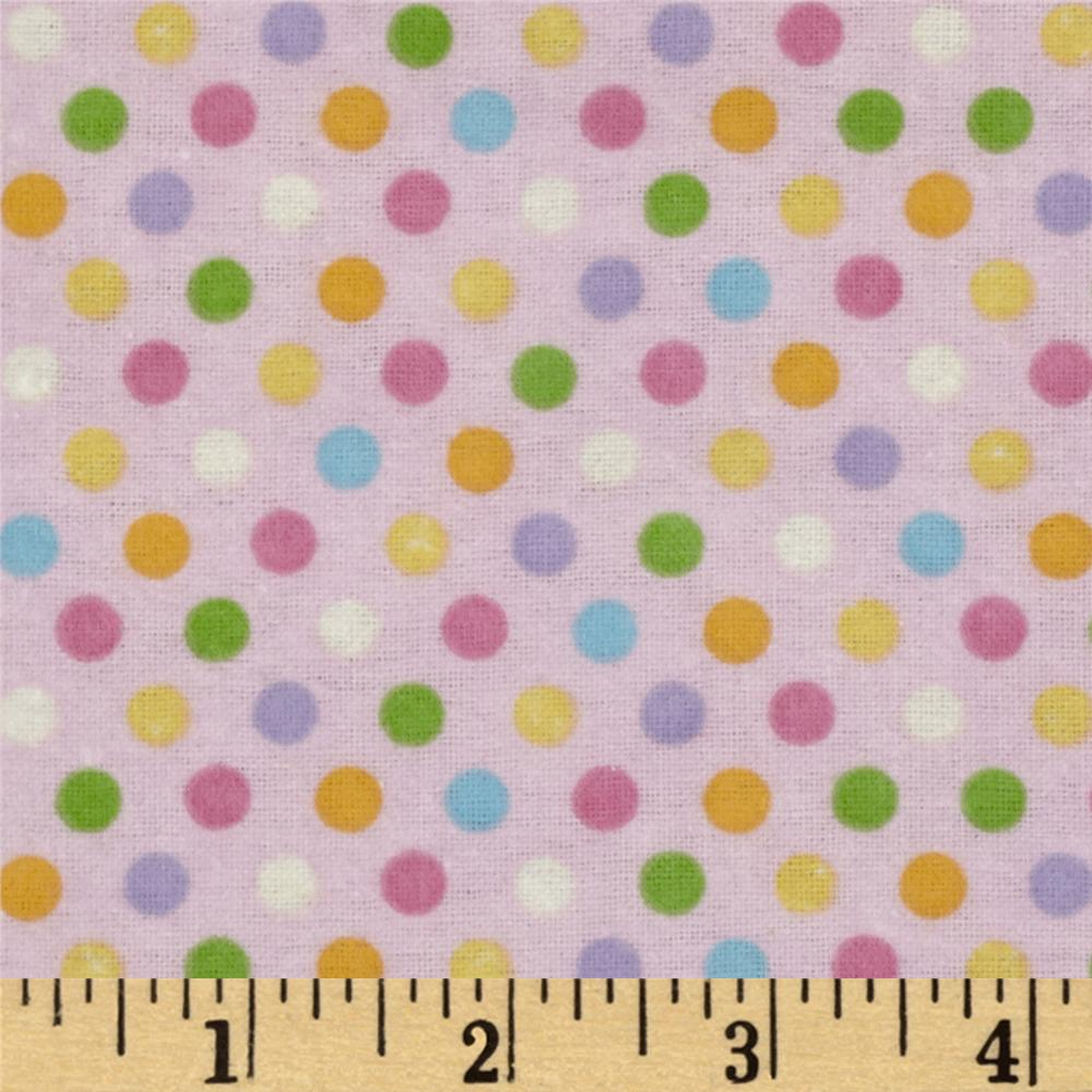Alpine Spring Garden Flannel Sweet Spots Pink