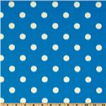 Premier Prints Ikat Dots Grasshopper/Blue/Natural