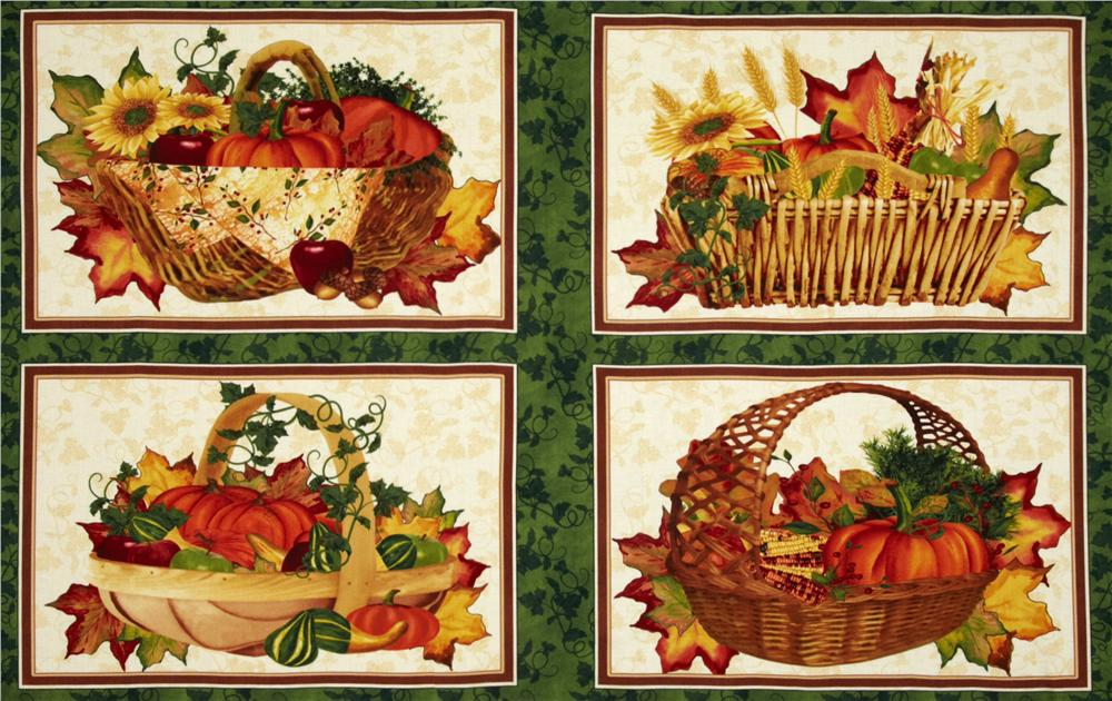 Beauty of Autumn Placemat Panel Multi