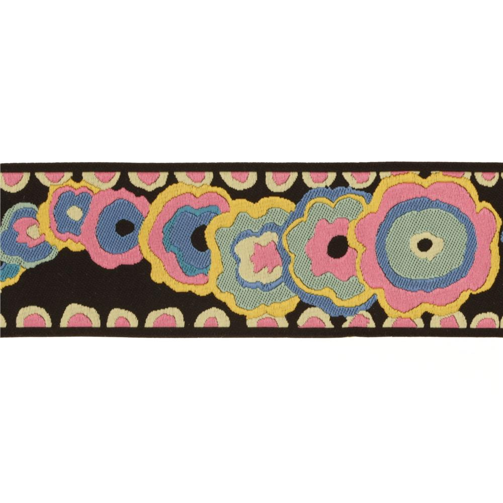 Kaffe Fassett 1 1/2'' Ribbon Kite Tail Pink/Black