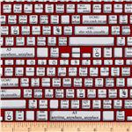 0265495 Back Talk Keyboard Red