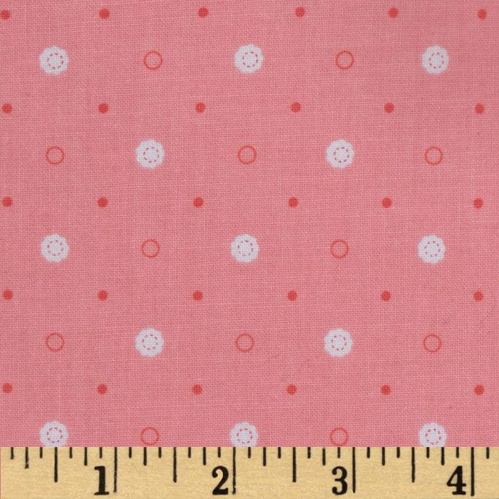 Riley Blake Polka Dot Stitches Pink