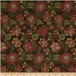 221945 Hampton Farm Large Floral Olive