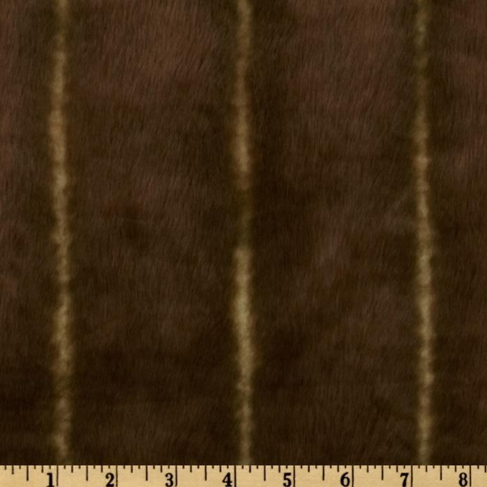 Faux Fur Stripes Brown