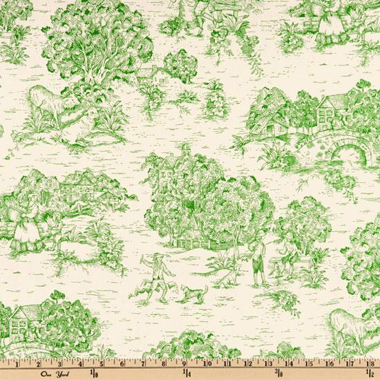 Pastoral Toile Grass/Ivory