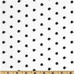 Rebecca Embroidered Poplin Polka Dot Black