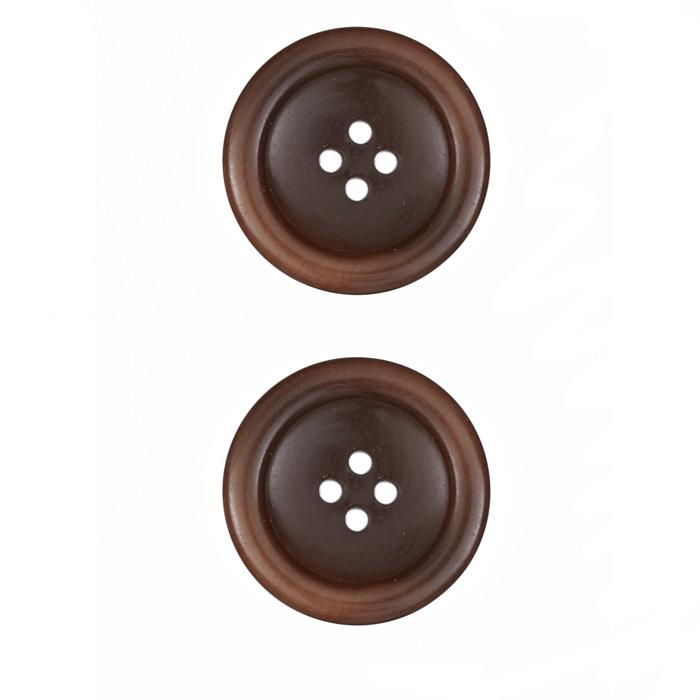 Corozo Button 1'' Montreal Light Brown