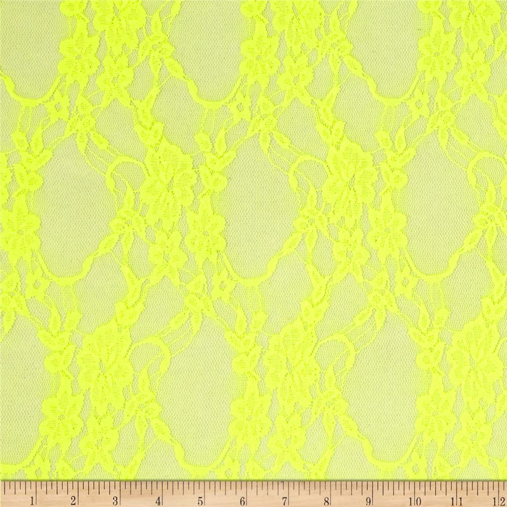 Stretch Neon Lace Yellow