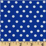 Moda Bear Country School Mama's Dots Royal Blue