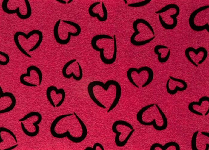 "Fanci Felt 9 x 12"" Craft Cut Princess Heart Shocking Pink"