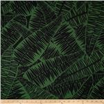 0285661 Jungle Jive Palm Leaves Hunter Green