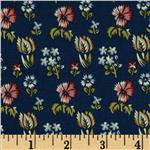 0285468 Prairie Home and Companions Indienne Floral Navy